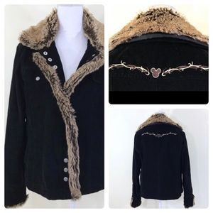 Disney World Corduroy Fur Mickey Mouse Jacket
